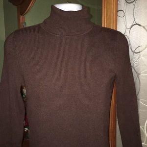 Ribbed turtleneck sweater faded Glory EUC